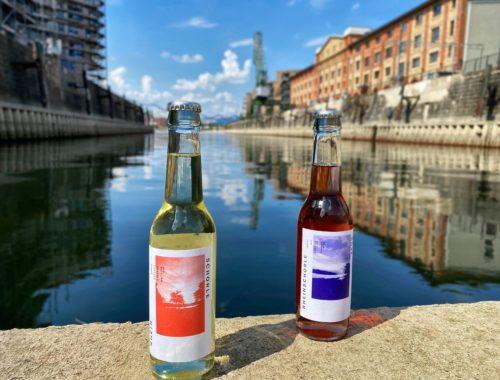 Bio-Weinschorle am Mainzer Zollhafen