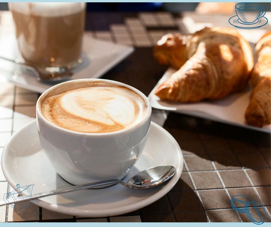 Kaffeespezialität Cappuccino mit Latte Art