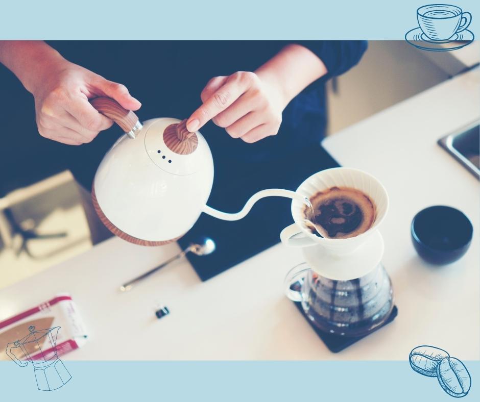Handfilter Kaffeezubereitung