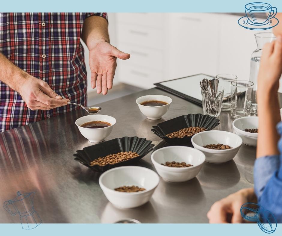 Kaffeewelt Tasing von Arabica und Robusta Bohnen